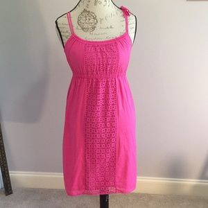 J.Crew Pink Cotton Eyelet Dress/Coverup Small